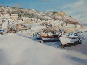 Runswick Bay Snow Scene