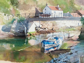 Sunshine and Shadows, Staithes Beck
