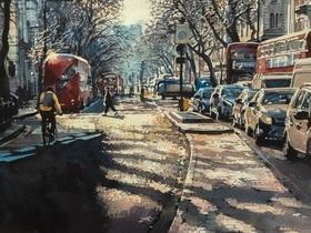 Winter on Kingsway, London