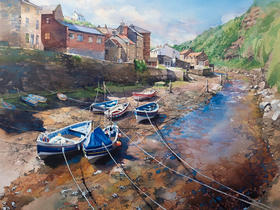 Moorings at Low Tide, Staithes Beck
